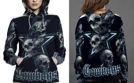 New Skull Cowboys Hoodie Fullprint  For Women - $43.99+