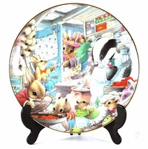 Danbury Mint mouse plate Tales from the Undergrowth Shopping Spree Tony ... - $37.17