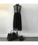Woman Fashion Sexy Black Lace Dress Casual Spring OL Lace Dress - $39.95