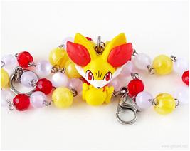 Fennekin Pokemon Figure Necklace, Gamers, Kawaii Jewelry - $27.00