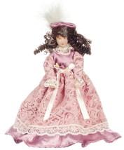 """Dollhouse Miniature Victorian Lady Porcelain 6""""T Mauve Pink Dress 1:12 S... - $15.99"""