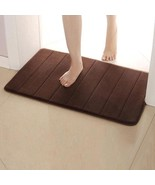 Memory Soft Foam Bath Mats Bathroom Carpet Non-slip Toilet Rug Mat Doormat  - $11.68