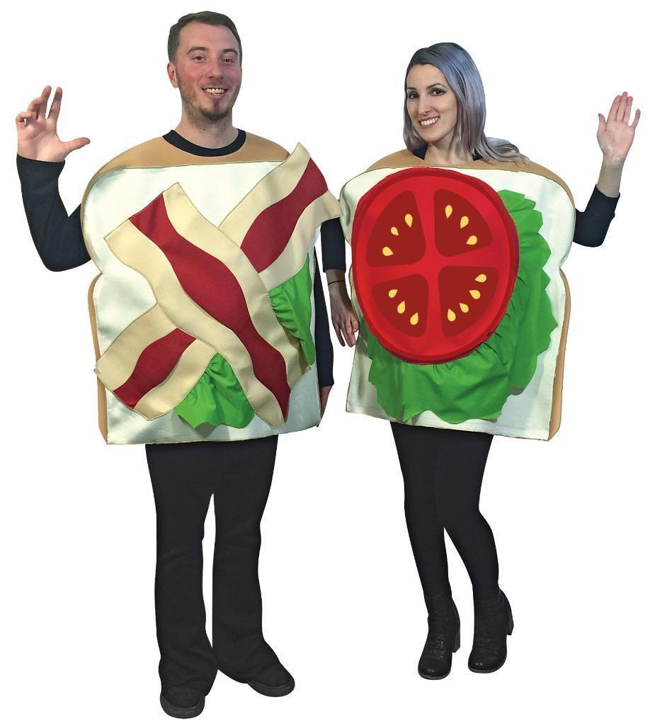 BLT Sandwich Couples Costume Food Sweet Halloween Party Unique Cheap GC6949