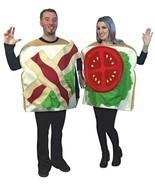 BLT Sandwich Couples Costume Food Sweet Halloween Party Unique Cheap GC6949 - €65,62 EUR