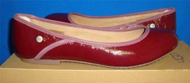 UGG ANTORA II Deep Bordeaux Flats Patent Leather Shoes Size US 8.5 NIB 1... - $33.27