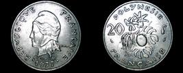 1977 French Polynesia 20 Franc World Coin - $11.99