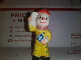 "Yellow/ Bell Ceramic Clown 2.5"" Tall Collectible Circus Figurine Display... - $4.84"