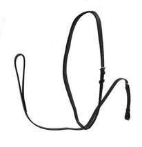 ENGLISH SADDLE HORSE DARK BROWN LEATHER FLAT STANDING MARTINGALE FULL SI... - $18.90