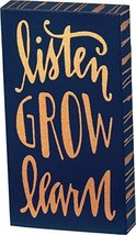 Box Sign Magnet Listen Grow Learn Primitives By Kathy 1.75 X 3.25 Inches - €4,37 EUR