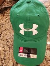 UNDER ARMOUR LOGO MEN'S GREEN BALL CAP HAT UA FREE OSFA HEATGEAR MSRP $2... - $19.99