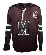 Custom Name # Mystery Alaska Movie Hockey Jersey New Brown Biebe #10 Any... - $54.99+