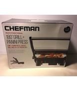 Chefman Grill Panini Press Sandwich Maker Non-Stick Coated Plates 3 In 1... - $34.99
