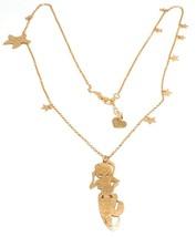 Long Necklace 70 cm, 925 Silver, Pendant Mermaid, Stars Marine, le Favole image 1