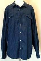 Levis Denim Shirt Size XXL Vintage Snap Front Long Sleeve - £37.81 GBP