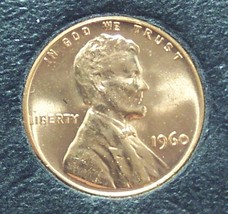 1960 Large Date Lincoln Memorial Penny Choice BU #01140 - $0.89
