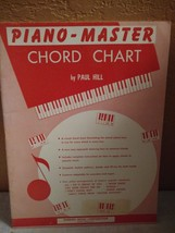 Piano-Master Chord Chart by Paul Hill - $8.00