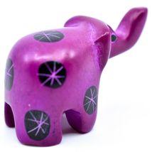 Tabaka Chigware Hand Carved Kisii Soapstone Miniature Fuschia Elephant Figurine image 3