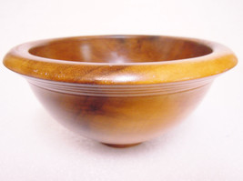poplar bowl wood handmade 2002 - $6.90