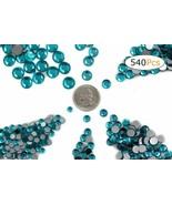 Acrylic Rhinestones Flat Back Blue Zircon Mixed 6 Sizes 540 Pcs For DIY ... - $14.20