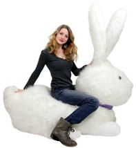 American Made Huge Stuffed Bunny 52 Inch Soft G... - $397.10