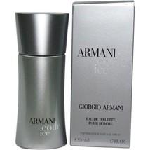 Giorgio Armani Code Ice Men Floral Fragrance EDT Spray 1.7 Oz Authentic 50 ml - $59.63