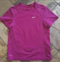 Boys 5 6 7 Pink/purple NIKE Dri Fit S/slv Shirt - $9.49