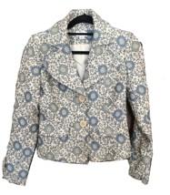 ANN TAYLOR LOFT Woven Floral Lined Career Jacket Coat Professional Career Sz 0 - $25.00