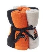 Halloween Wash Cloths Skeleton Ghost Pumpkin Set Of 6 - $19.79