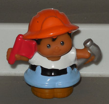 Fisher Price Current Little People construction worker with Hammer FPLP - $3.00