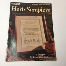 Herb Samplers Pattern Book Leisure Arts 5 Designs Linda Culp Calhoun - $9.74