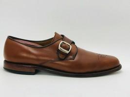 Allen Edmonds Men's Holt Monk Strap Tan Leather Size 11.5 D - $98.99