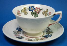 Wedgwood Pembroke Cup & Saucer T428 Corinthian Shape Floral - $5.00
