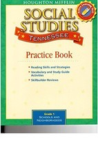 Houghton Mifflin Social Studies Tennessee: Practice Book Consumable Lv 1... - $4.93
