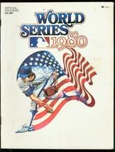 1980 WORLD SERIES PROGRAM-PHILLIES-ROYALS-AMERICAN FLAG VG - $37.25