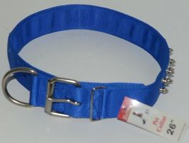 Valhoma 760 S26 BL Spike Dog Collar Blue Double Layer Nylon 26 inches Pkg 1 image 6