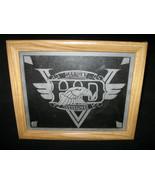 Framed Harley Davidson HD Eagle V Winged Logo Etched Glass Biker Gift w ... - $35.00