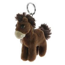 NICI Horse Starfinder Dark Brown Standing Plush Beanbag Key Chain 4 inch... - $11.00