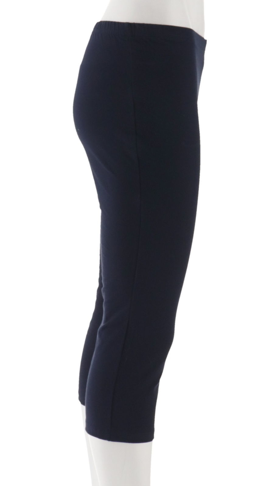 Women with Control Petite Set 2 Knit Chic Crop Pants Black Navy PXXS NEW A252190