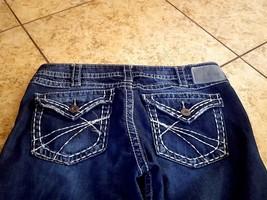 Silver Jeans Womens Pioneer Boot sz 31 Cut Dark Distress Blue X-Long  - $60.34
