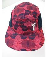 Kobe Bryant 5 Panel Red Black Nike Adjustable Adult Ball Cap Hat New - £34.97 GBP