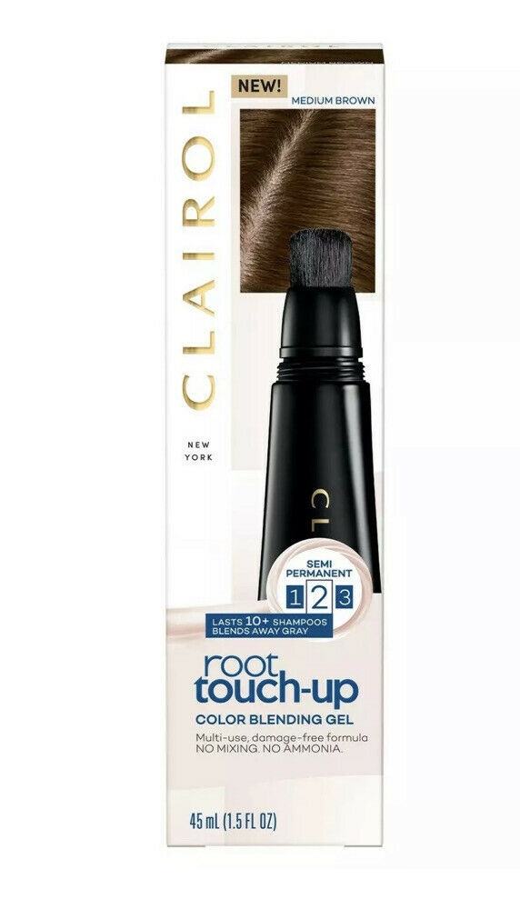 NEW CLAIROL ROOT TOUCH-UP COLOR BLENDING GEL MEDIUM BROWN 45 ML - $14.01