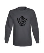 Black Super Hero - Heavy Metal Long Sleeve - $21.99+