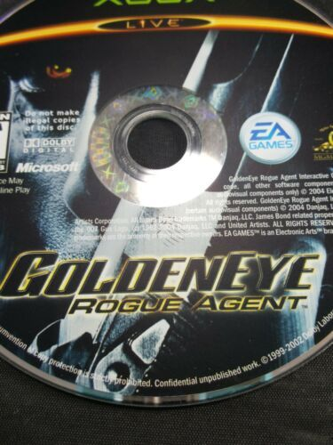 Original Xbox  Golden Eye Rogue Agent Video Game DISC ONLY