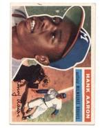 1956 Topps #31 Hank Aaron Braves UER DP VG/EX Very Good/Excellent - $240.00