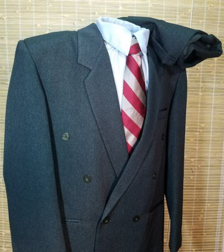 ORIGINAL COLETT QUALITY MEN'S GREEN WOOL BLEND DOUBLE BREASTED 1 BUTTON 50L SUIT