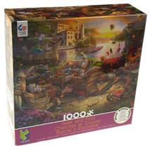 Ceaco Seek & Find Italian Terrace Jigsaw Puzzle 1000 Piece 27x20 Made USA 3151-2 - $11.39
