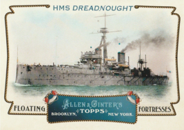 2011 Topps Allen and Ginter Floating Fortresses #FF16 HMS Dreadnought  - $0.50