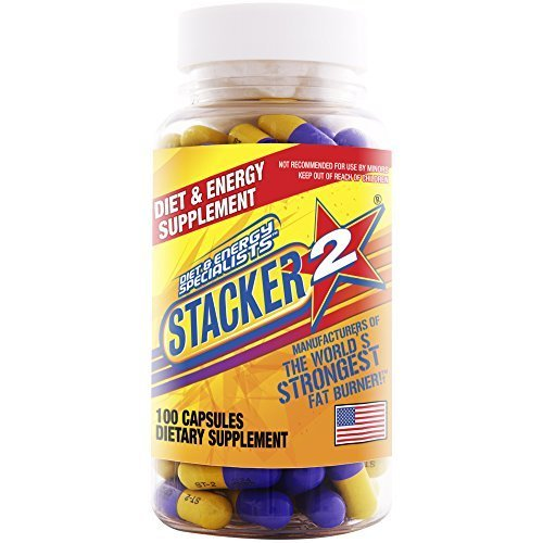 Stacker 2 Fat Burner Capsules, Ephedra Free, 100-Count Bottle Pack of 3