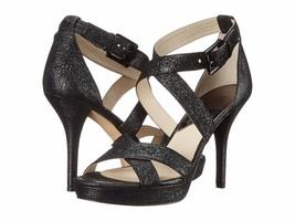 New Michael Michael Kors Women Evie Platform Shoes Sparkle Black Size 9 - $139.99