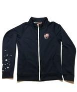 Team Apparel Olympic Sweatshirt Womens Large Flag Stars Thumb Holes - $14.50